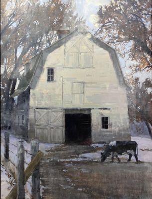 Sold Artwork - Winter Barn