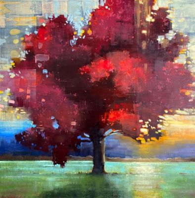 Sold Artwork - Dressed in Red 48x48