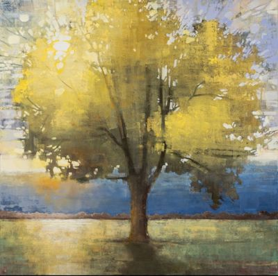 Sold Artwork - Golden Gown 48x48