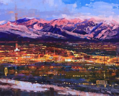 Sold Artwork - Salt Lake Valley 48x60