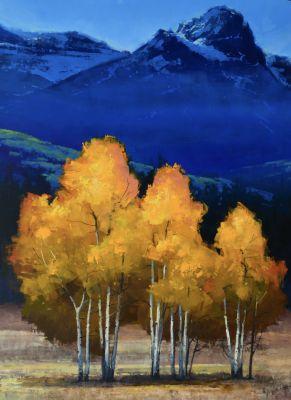 Originals - Golden Trees and Sapphire Hills 48x60 $15,900